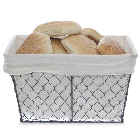 Stella Rect Wire Basket with Cloth Liner - Medium 12in