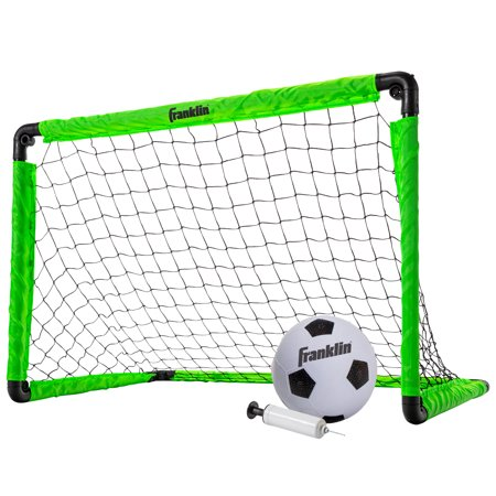 Franklin Sports Backyard 3' Insta-Set Soccer Goal Set for Kids ( Includes Soccer Goal, Size 1 Ball, Pump, and Stakes) ()