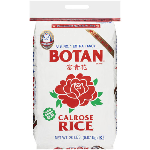 Botan U.S. No. 1 Extra Fancy Calrose Rice, 20 lb