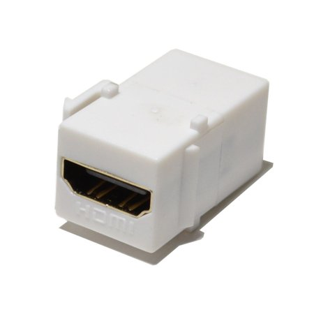 HDMI Keystone Insert jack Female to Female Adapter Coupler-White