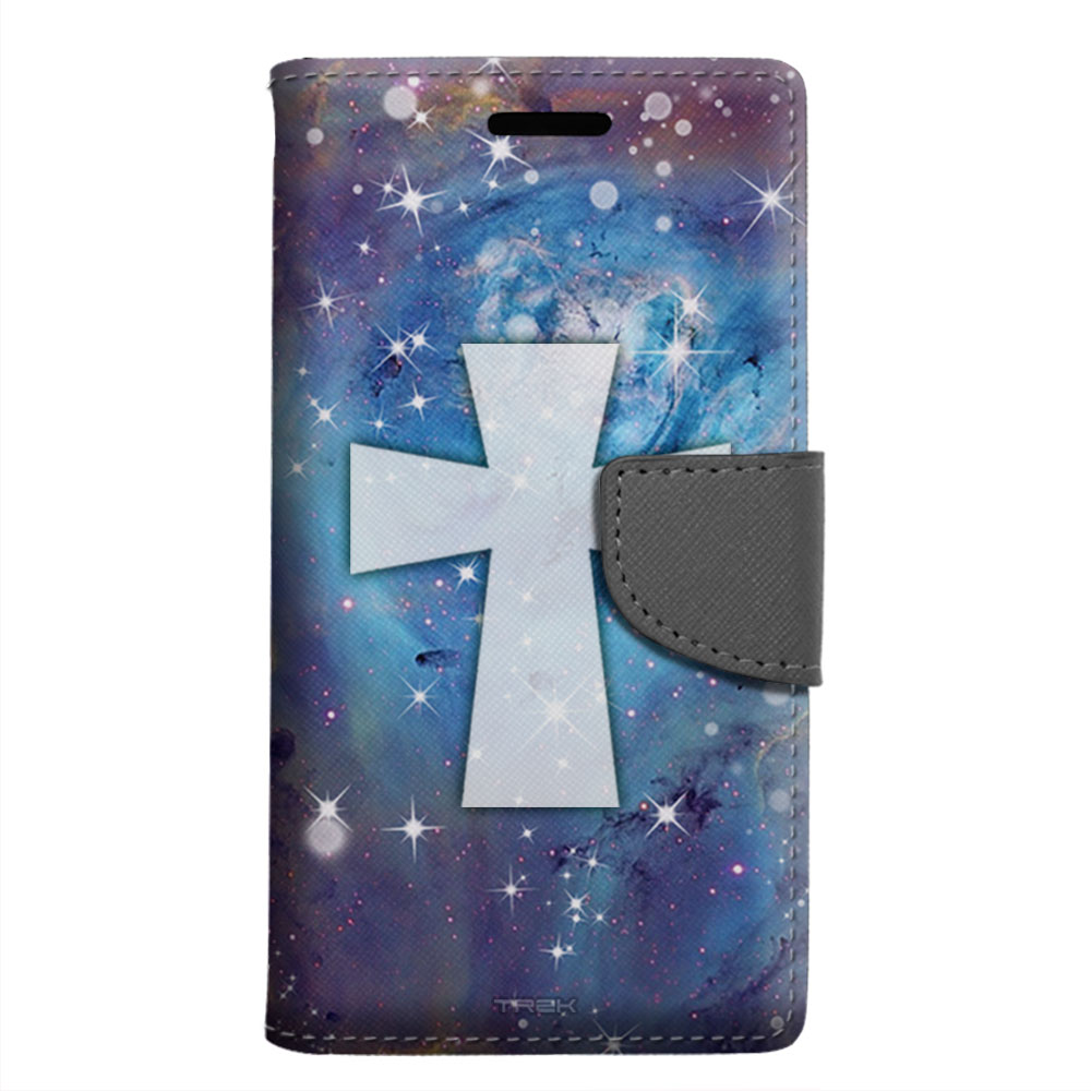 LG G5 Wallet Case - Maltese Cross on Nebula Blue Case
