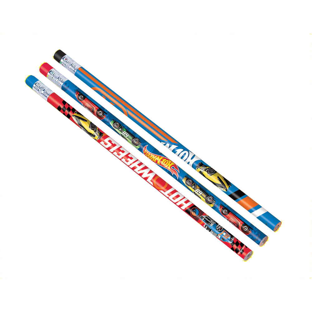 Hot Wheels Wild Racer Pencils (12 Count) - Party Supplies