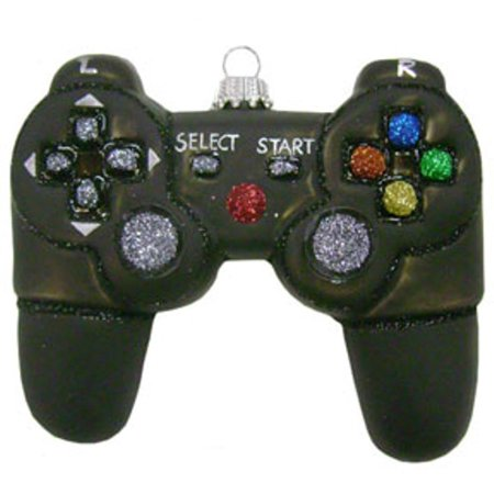 Christmas By Krebs Handheld Video Game Controller Glass Holiday Ornament ()