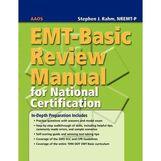Emt Basic Review Manual For National Certification Walmart