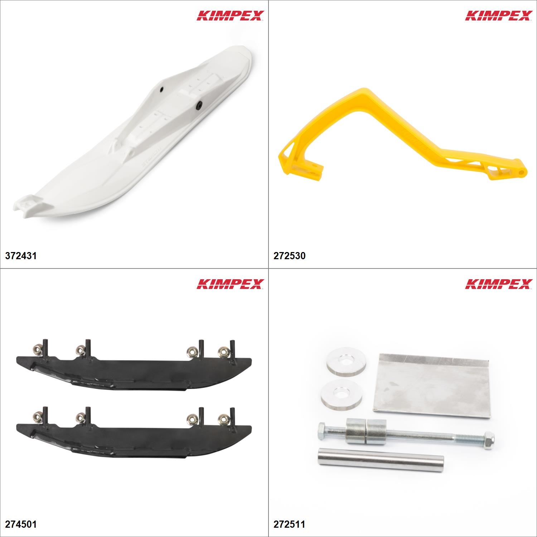Kimpex Ski Stealth Kit White, Ski-Doo GSX 550F 2006-10 White   Yellow #KK00001933_14 by Kimpex