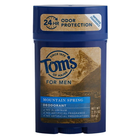 Tom's Of Maine Natural Aluminum-Free Deodorant, Mountain Spring, 2.25 (Best Rated Natural Deodorant)