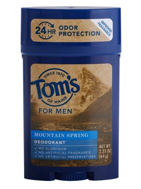 Tom's Of Maine Natural Aluminum-Free Deodorant, Mountain Spring, 2.25 Oz