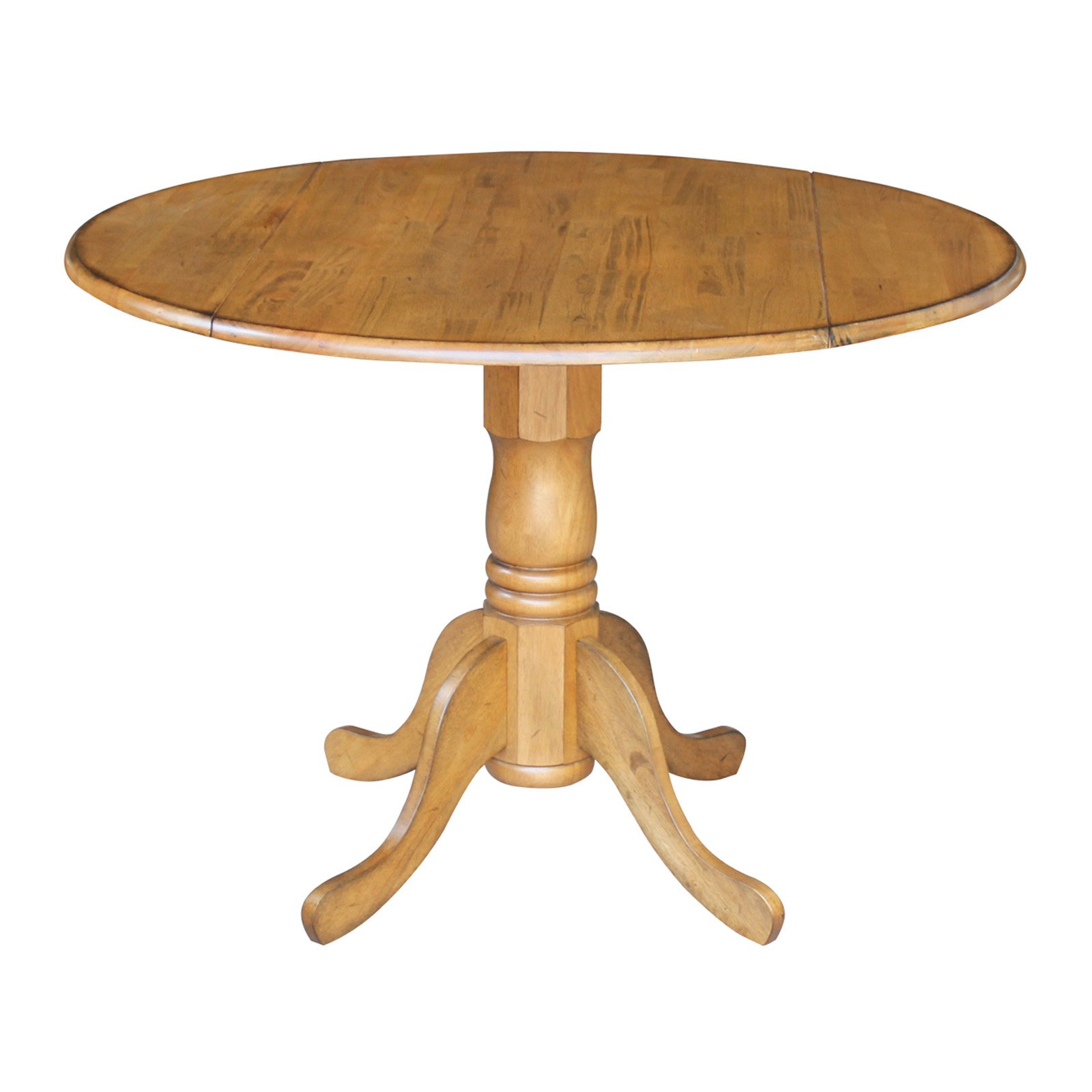 "International Concepts 42"" Round Dual Drop Leaf Pedestal Table"