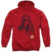 Hellboy II Splatter Gun Mens Pullover Hoodie