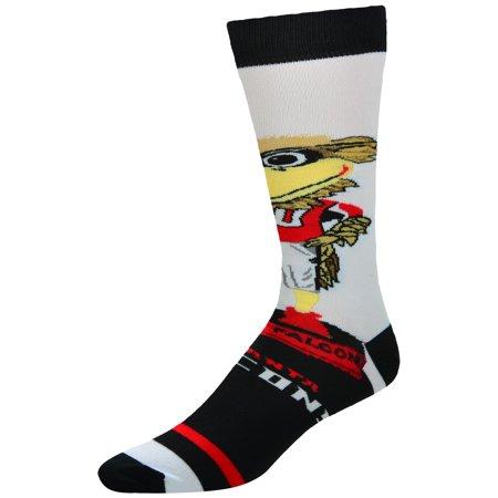 Atlanta Falcons For Bare Feet Youth Mascot Bobble Head Quarter-Length Socks