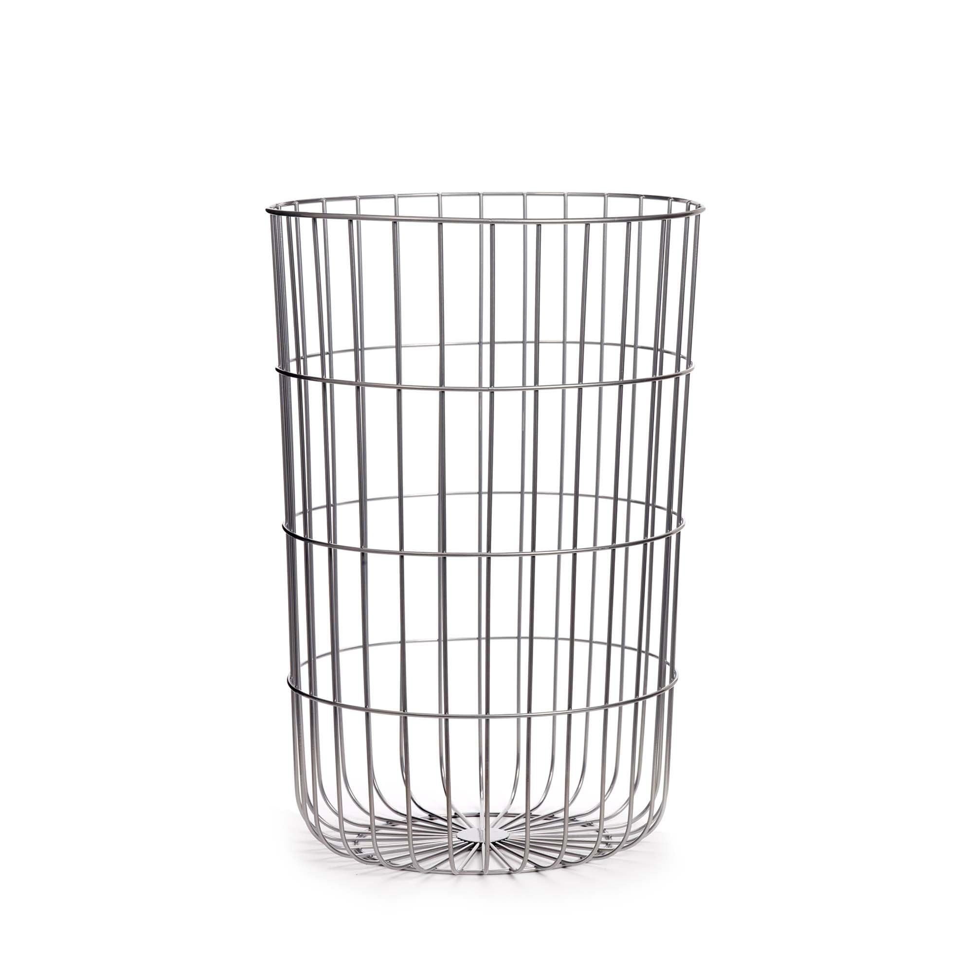 Design Ideas Cooper Wire Hamper, Silver