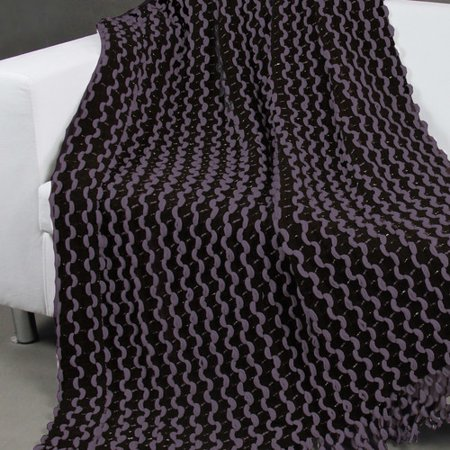 Chic Home Malsie Two Tone Chenille Throw Blanket Walmart Custom Black Chenille Throw Blanket