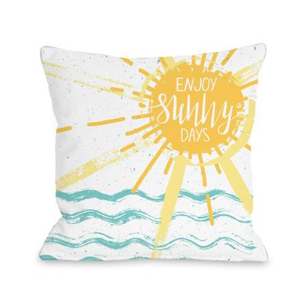 Ivy Bronx Ocean City Enjoy Sunny Days Throw - Party City Bronx