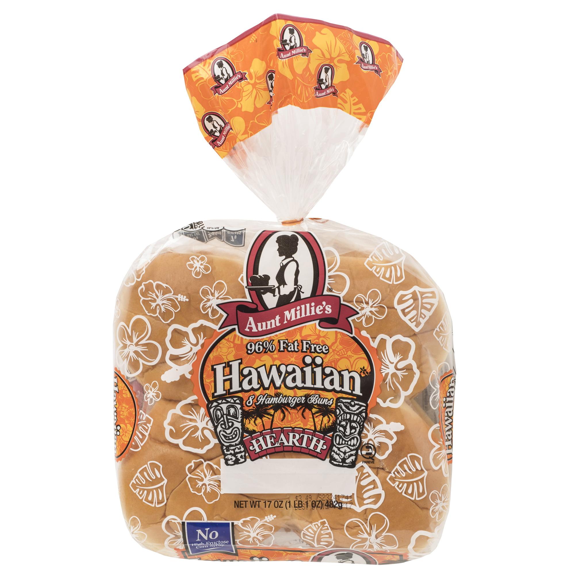 Aunt Millie's Hawaiian Hamburger Buns, 8 ct., 17 oz.
