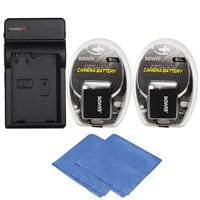 LP-E10 Replacement Battery (2x) for Canon EOS Rebel T3, T5, T6 DSLR Camera