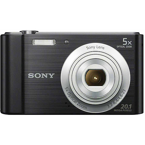Sony DSC-W800 Digital Camera with 20.1 Megapixels and 5x Optical Zoom (Available in Black or Silver)