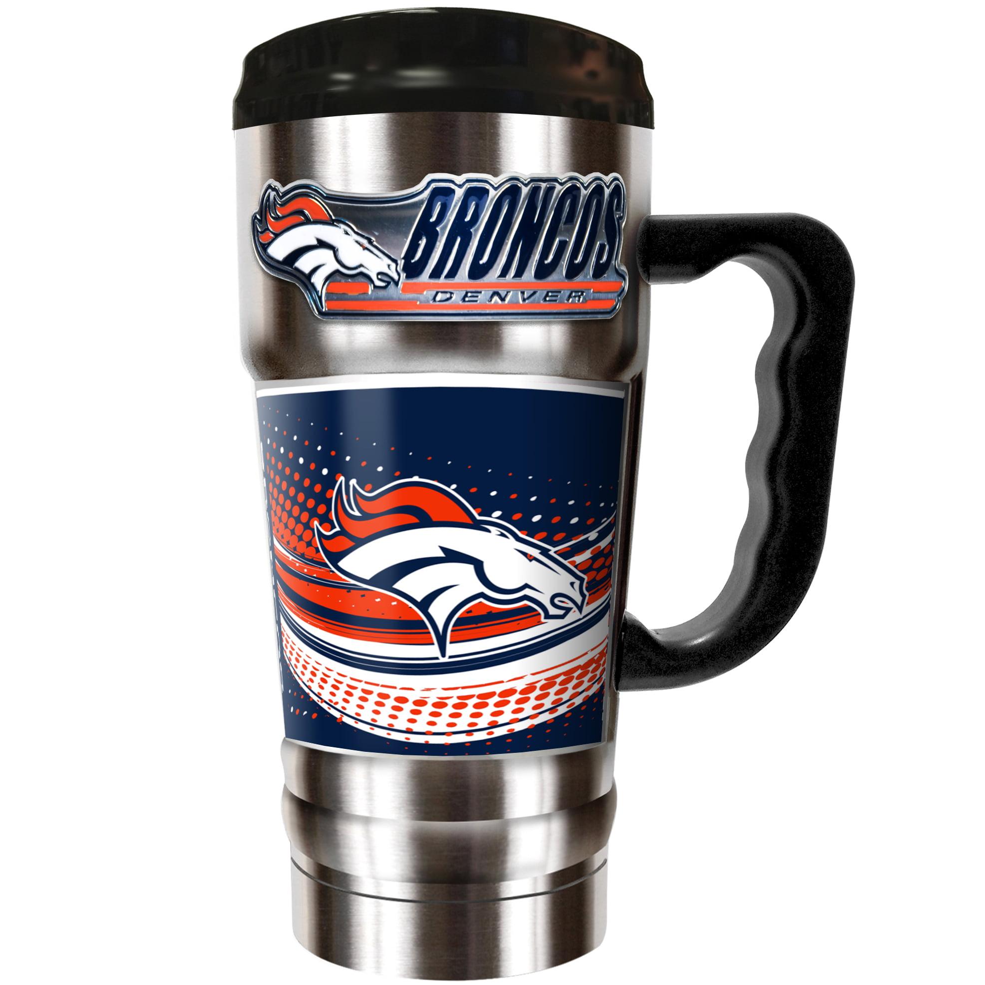 Denver Broncos The Champ 20 oz. Travel Tumbler - Silver - No Size