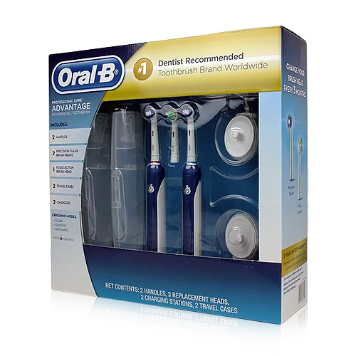 Oral-B ProfessionalCare Advantage Dual Handles Electric Rechargeable Toothbrush