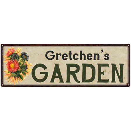 - Gretchen's Garden Personalized Flower Chic Decor 6x18 Sign Gift 106180017447