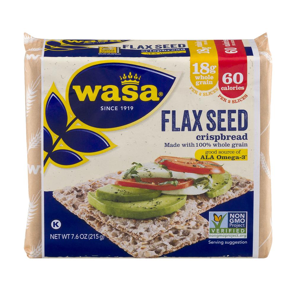 Wasa Flax Seed Crispbread, 7.6 OZ