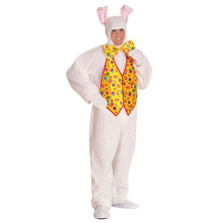 Bunny Vest (White Mascot Bunny Costume with Gold Vest for)