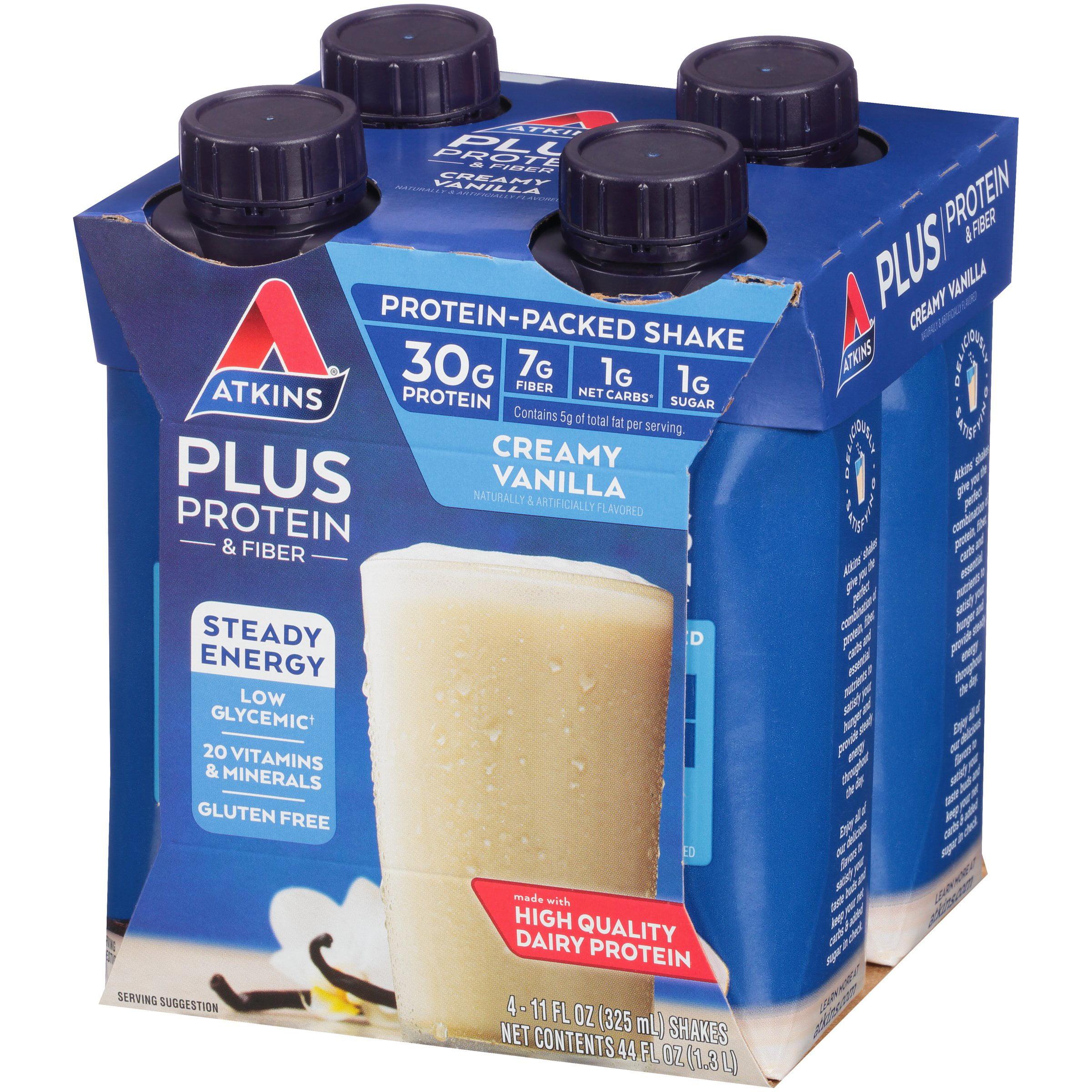6bb0742ba9f03f Atkins PLUS Protein   Fiber Creamy Vanilla Shake