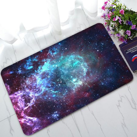 PHFZK Galaxy Space Doormat, Nebula Universe Space Doormat Outdoors/Indoor Doormat Home Floor Mats Rugs Size 30x18 (Space Matt)