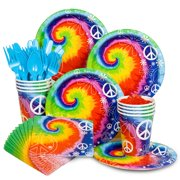 Tie Dye 60S Party Standard Kit  Serves 8 Guests - Party Supplies