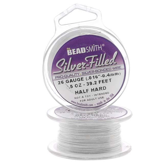 Silver Filled Wire - 26 Gauge Round Half Hard - 0.5oz (39.25 Feet)