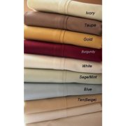 5 SIZES-1200TC Solid Egyptian Cotton Bed Sheet Sets -ivory