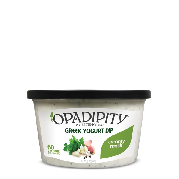 Opadipity by Litehouse Creamy Ranch Greek Yogurt Dip Tub, 12 oz.