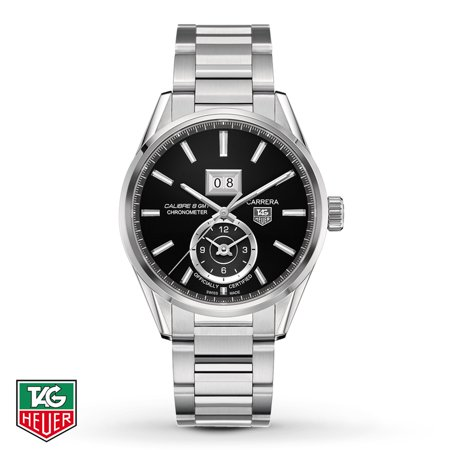 Tag Heuer Carrera Automatic Black Dial Steel Mens Mens Watch