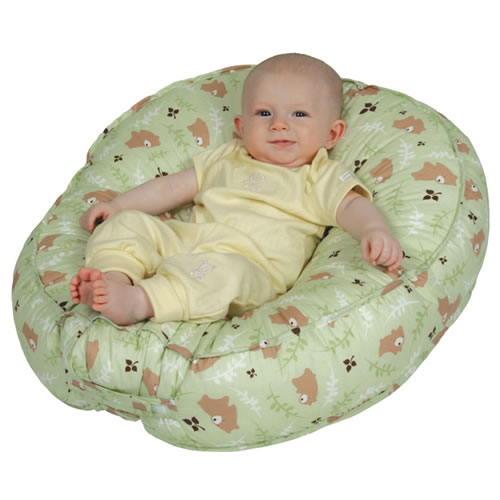 LeachCo Podster Sling-Style Infant Lounger in Green Pin Dot