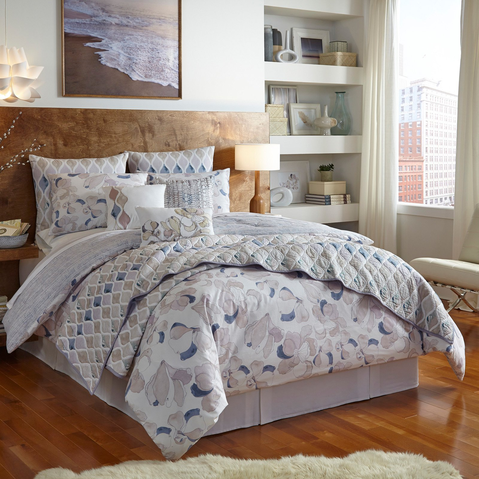 Stout Magnolia Reversible Comforter Set by Shell Rummel