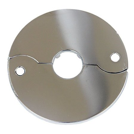 03-1551 Chrome Plated Floor and Ceiling Split Flange Fits 3/8-Inch Iron Pipe Or 1/2-Inch Inside Diameter Copper, The product is 3/8 inch chr split flange By LASCO