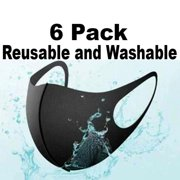 (6 Pack) Reusable Lightweight Three-Dimensional Face Mask Black Dust-Proof Anti-Fog Sunscreen Anti-Pollen Washable Mascaras