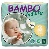 Bambo Nature Baby Diapers Classic (Choose Size and Count)