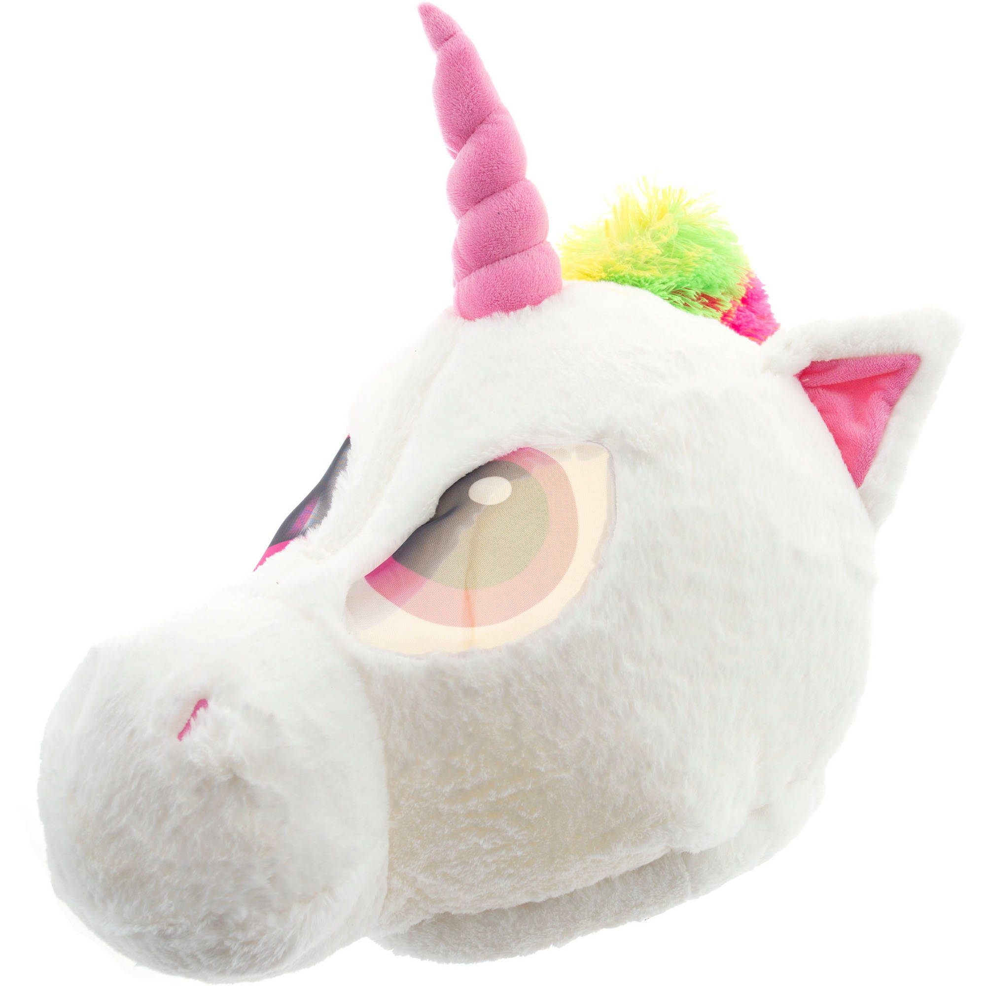 Unicorn Maskimal Adorable Large Plush Head Mask Accessory Walmart Com