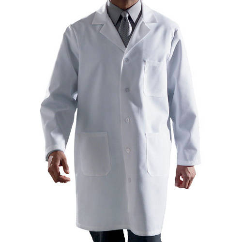Medline - Men's Classic Length Lab Coat, White