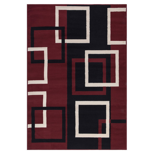 sweet home stores Clifton Dark Red Area Rug