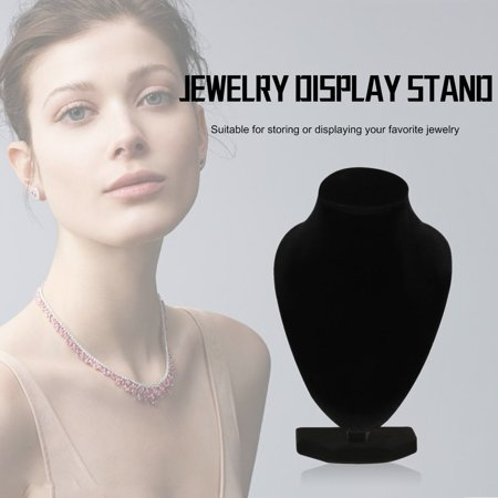 Durable Black Mannequin Necklace Jewelry Pendant Display Stand Holder Show Decorate Bracelet Jewelry Organizer, Black - image 7 of 7