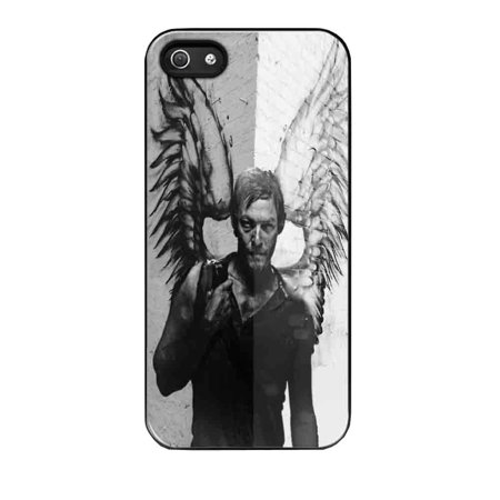 Case Mobile Case Daryl Dixon Black and White Angel Wings for iPhone 6 plus Black](Daryl Dixon Vest Halloween)