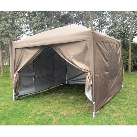 Quictent Privacy 10x10 Mesh Curtain Beige Ez Pop Up Party Tent Canopy Gazebo 100 Waterproof