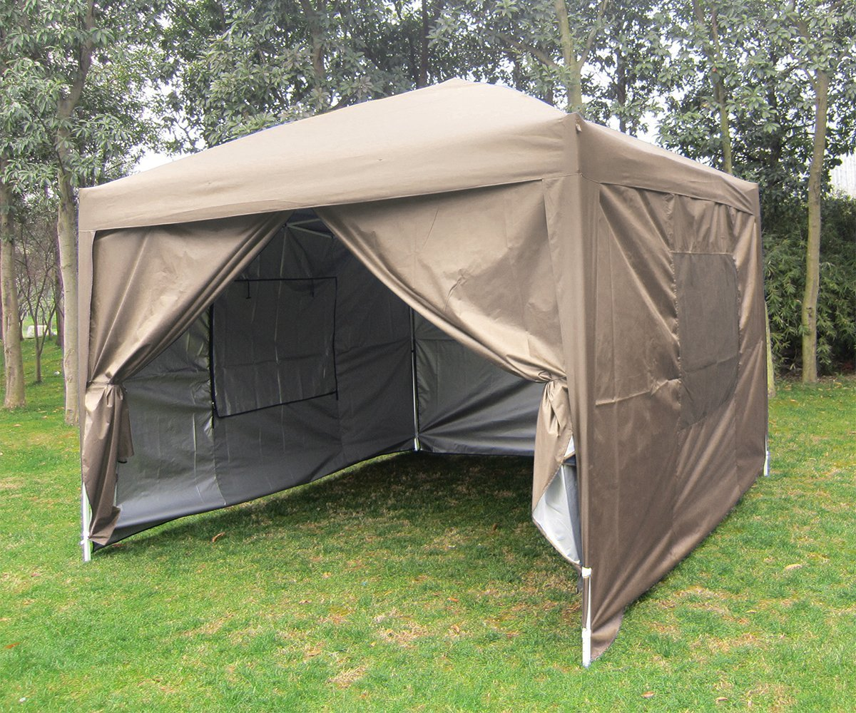 Quictent Privacy 10x10 Mesh Curtain Beige EZ Pop Up Party Tent Canopy Gazebo 100% Waterproof : tent 10x10 walmart - memphite.com