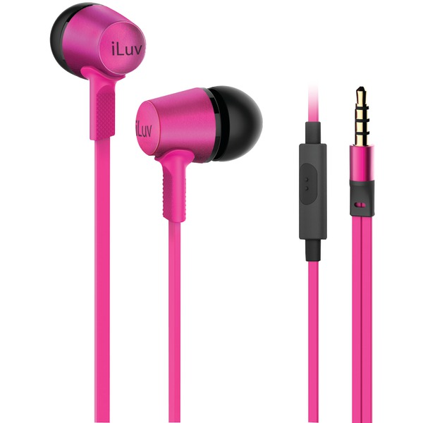 ILUV CITYLIGHTSPN City Lights(TM) In-Ear Earbuds with Microphone (Pink)