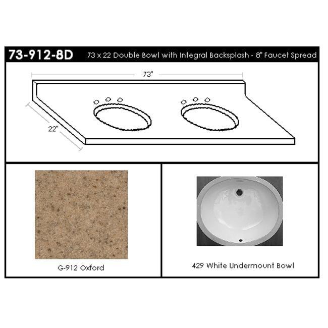 MarCraft 73-912-8D Double Bowl Vanity Top