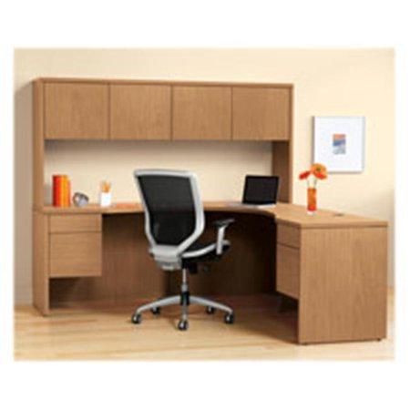 Desk, Double Pedestal, Bow Top, 72 in. x 36 in. x 29.5 in.,
