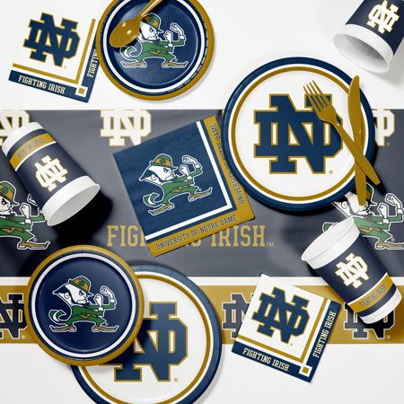 University of Notre Dame Game Day Party Supplies Kit - Notre Dame Party Supplies