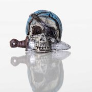 "BioBubble Decorative Pirate Skull, 2"" x 2"" x 2"""