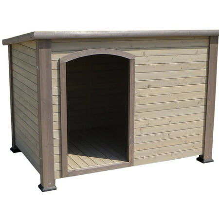 Precision Extreme Outback Log Cabin Dog House - Grey - Large